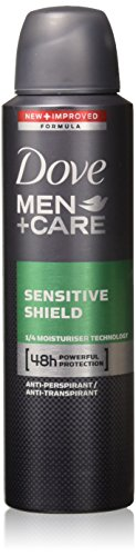 Dove Men + Care Dry Spray Antiperspirant, Sensitive Shield 3.80 oz (Pack of 8) ()