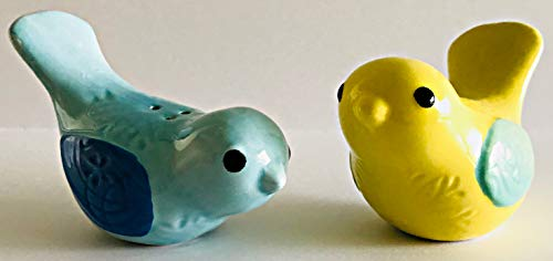 Yellow & Blue Birds | Light Blue With Darker Blue Wings | Butter Yellow With Light Green WIngs | Salt & Pepper Shakers