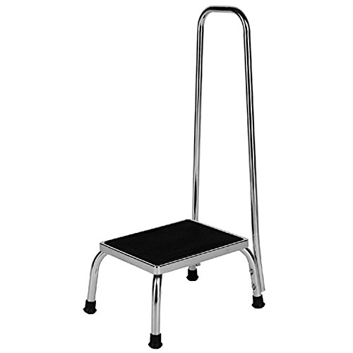 - Sammons Preston Handrail Footstool, Stool with Large Handle, Rubber Feet and Non Skid Platform Surface for Preventing Slipping, Bathroom and Kitchen Aid for Helping Individuals to Reach Higher