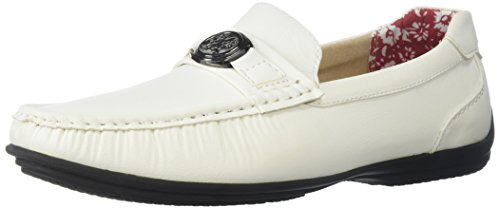 Stacy Adams Mens Cyrus Moc Teen Bit Instapperij Stijl Loafer Wit