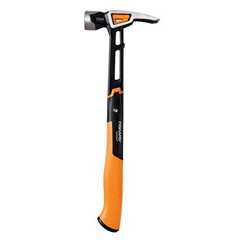 Fiskars IsoCore 22 oz Milled-face Framing Hammer, 16 Inch