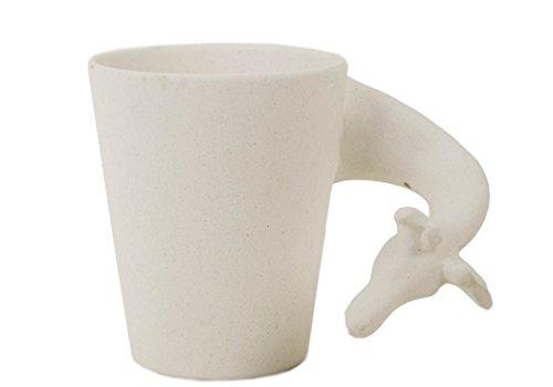 Giraffe 8oz Unpainted Handmade Ceramic Coffee Mug (10cm x 8cm)