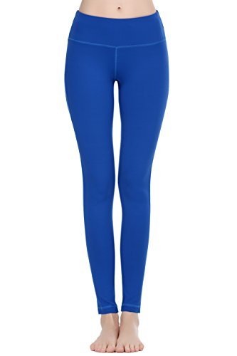 Women Power Flex Yoga Pants Workout Running Leggings - All Colors Royal L