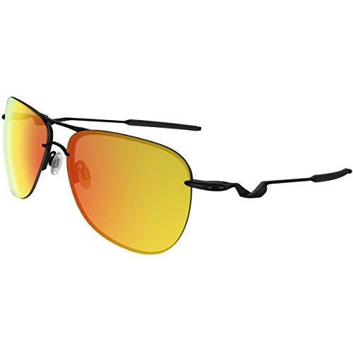Oakley Men's Tailpin Polarized Aviator Sunglasses, SATIN BLACK, 61 ()