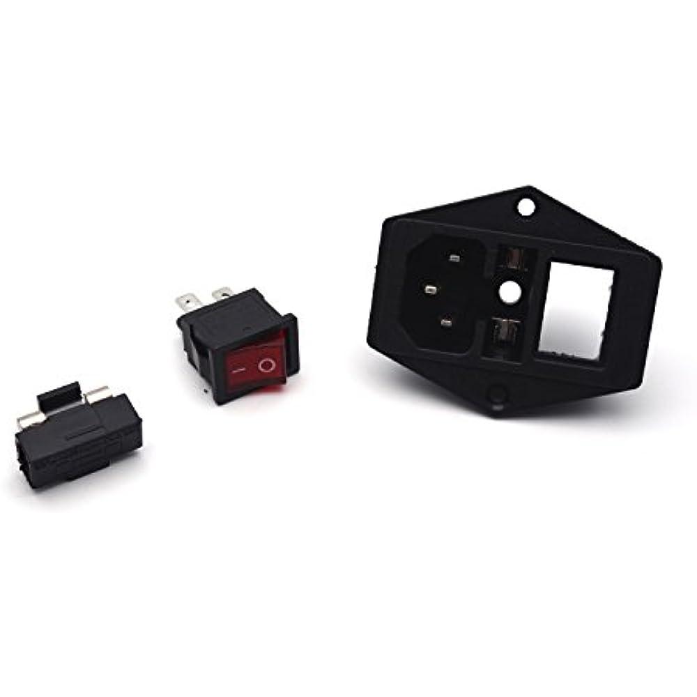 6pcs Inlet Module Plug Male Power Socket 5a Fuse Switch