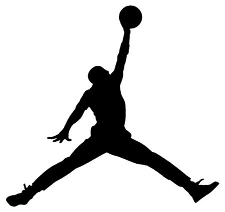 Air Jordan Nike Jumpman Logo Vinyl Sticker Decal-Black-6 Inch