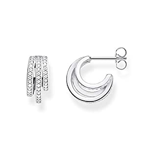 Thomas Sabo Women Sterling silver Cubic Zirconia Hoops – CR652-051-14
