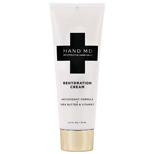Hand Md Rehydration Anti Aging Moisturizer - For Dry Skin and Cracked Working Hands - Nourishing Serum and Hand Lotion Treatment w/Jojoba, Shea Butter, Olive Oil, and Oats (2.5 OZ)