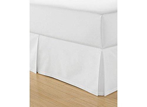 (MARTHA STEWART - 200T Percale Off-White Cream Cal-King Bedskirt )