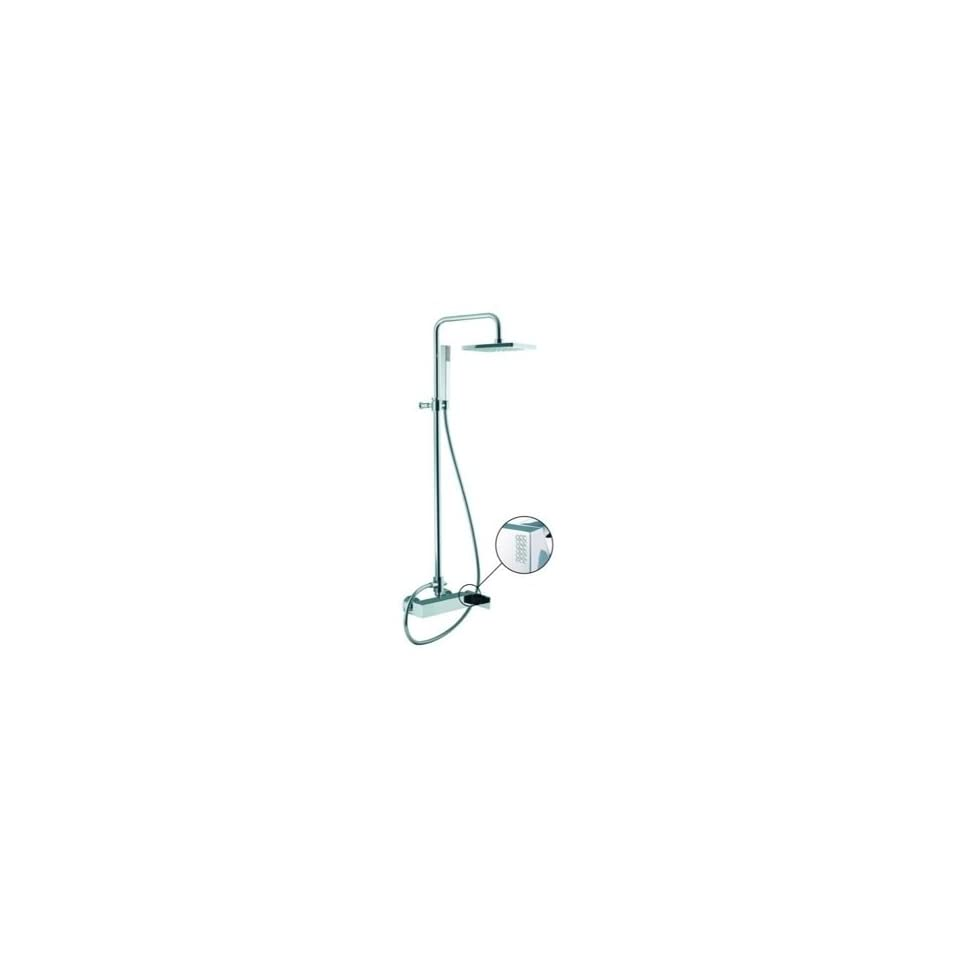 Fima S3505/2C Wall Mounted Shower Mixer With Rainhead And Hand Shower