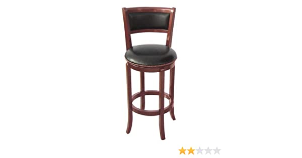 Stupendous Adf 24 Inch Wood Swivel Bar Stool With Pu Seat And Back Cherry Alphanode Cool Chair Designs And Ideas Alphanodeonline
