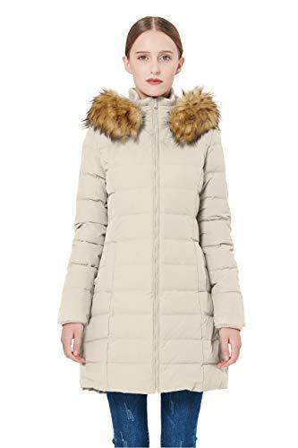 Orolay Women's Thickened Down Jacket Winter Coat YRF8003Q Beige 2XL