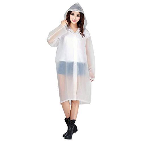 Con Cappuccio Giacca Colors Lady Impermeabile Raincoat Solid Fashion Rain Di Jacket Marca Mode Bianca qnnFEY