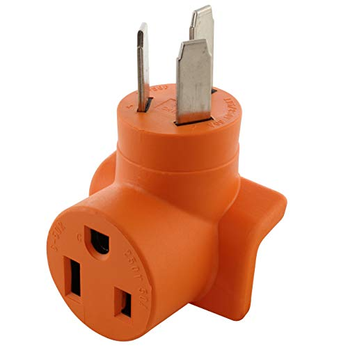 AC WORKS [WD1050650] 50A 3-Prong Dryer/Welder 10-50 Plug to 6-50R 50A 250V Welder Adapter