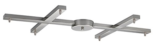 - Illuminare Accessories 6 Light H-Pan in Satin Nickel
