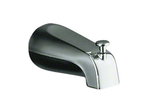 outlet KOHLER K-389-SN Devonshire 4-7/16-Inch Diverter Bath Spout with NPT Connection, Vibrant Polished Nickel