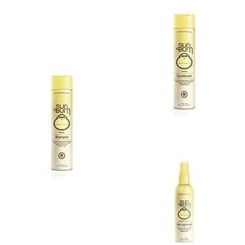 Sun Bum Blonde Variety Pack – Blonde Formula Daily Shampoo, Blonde Formula Daily Conditioner, Blonde Hair Lightener
