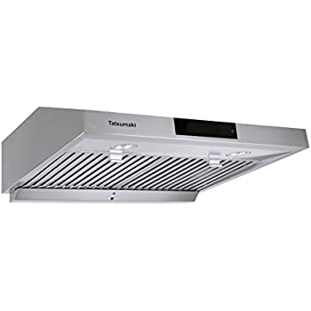 "Tatsumaki 30"" TA-S18 Contemporary Design Range Hood w/ 860 CFM, Touch Screen, Baffle Filters"
