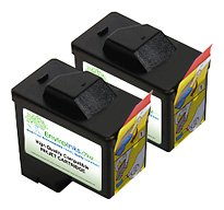 Compatible 2-pack Dell Series 1 Black 720/A920 Ink Cartridge (T0529/K1014)