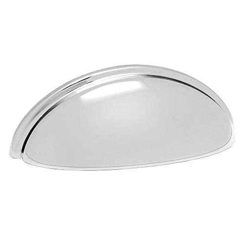 (Cosmas 783CH Polished Chrome Cabinet Hardware Bin Cup Drawer Handle Pull - 3