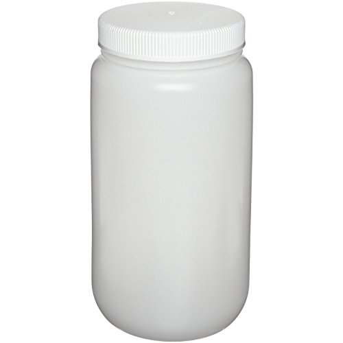Nalgene High Density Polyethylene Large Wide Mouth Bottle, 2 Liters Capacity (Case of 6) (Bottles Polyethylene High Density)