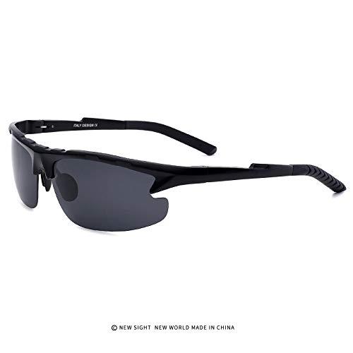 Homme de black magnésium de Sport Aluminium Mjia polarisées Lunettes pour Randonneurs Soleil Lunettes extérieurs Protection Lunettes sunglasses en de UV400 qXPppxwg