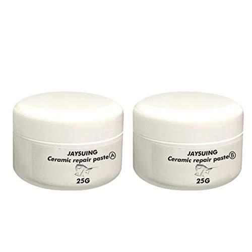 Keramische Reparatur Paste Keramikpaste Montagepaste Keramik Emaille Reparatur Remaille Paste Weiß Temperaturbeständig MiMiey (2)