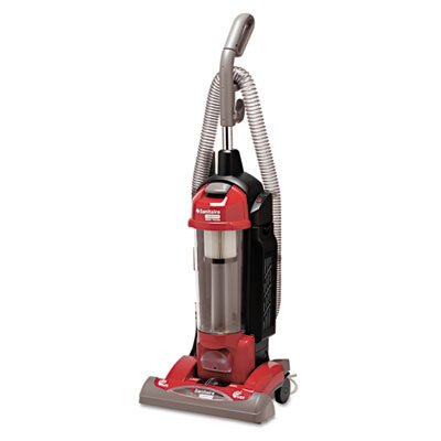 Sanitaire SC5845B Bagless/Cyclonic Vacuum with Sealed HEPA Filtration Red