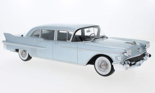 Cadillac Fleetwood 75 Limousine, metallic-hellblau, 1958, Modellauto, Fertigmodell, BoS-Models 1 18