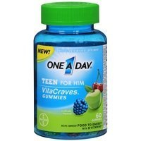 One A Day VitaCraves Teen for Him Multivitamin Gummies, A...