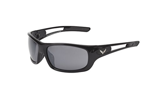 CORVETTE EYEWEAR's C7 logo Rx capable series gloss black full frame and BONUS HARD - Jrs Sunglasses