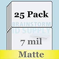 7 Mil Matte Butterfly Pouch Laminates - 25 Pack
