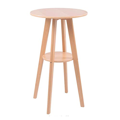 - Living Room Furniture Bar Table Round Modern Height Pub Cocktail Tables Multipurpose Kitchen Home Restaurant Easy Assembly CJC (Color : Wooden Color)