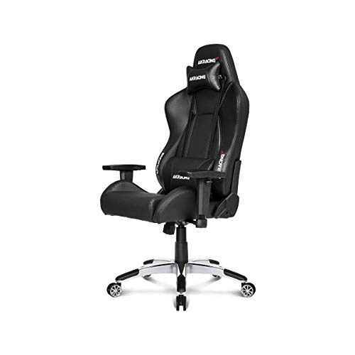 AKRacing Masters Series Premium Gaming Chair with High Backrest, Recliner, Swivel, Tilt, 4D Armrests, Rocker and Seat Height Adjustment Mechanisms with 5/10 warranty - Carbon Black AKRacing