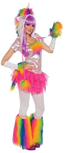 Rubie's Fluffies Faux Furry Leg Warmers, Rainbow, One Size