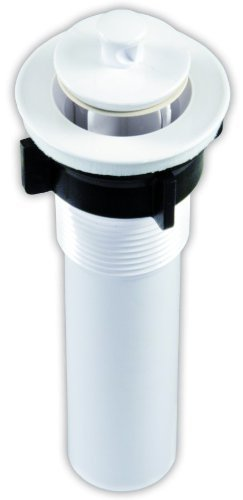 JR Products 95215 Polar White 1-1/4'' x 5'' Sink Strainer (Quantity 6)