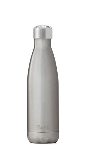 S'well Men's Medium Stainless Steel Bottle, Silver Lining, One Size