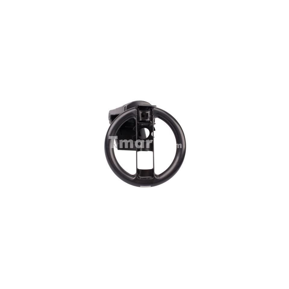 Racing Steering Wheel with Stand for Wii Black