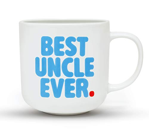 Gifffted Uncle Coffee Mug, Best Uncle Ever, Anniversary and Birthday Gift for Men, Funny Uncle Gifts, Blue, Ceramic, 13 Ounce