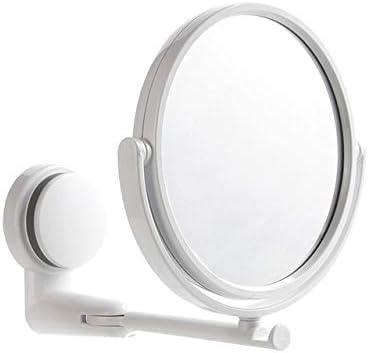 Wanz Espejo de Maquillaje Plegable Montaje en Pared Espejo de vanidad sin Taladro Espejo de baño Giratorio Brazo Plegable de succión Espejo de Afeitar Extensible A3, Espejo de una Cara