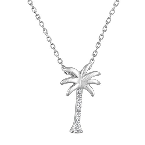 ing Silver Palm Tree Pendant, 16