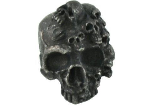 gorilla paracord mind skull pewter black bead 3 16 hole size for