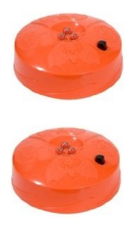 2-Pack Halloween Pumpkin Strobe Light LED 3 Lite Strobe Battery Operated