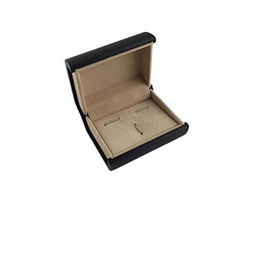 Patty Both Deluxe Cufflink Tie Clip Cuff Links Storage Gift Box Jewelry Display Case (Black)