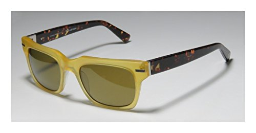 Seraphin Pierce Sun MensWomens Designer Full-rim SunglassesShades (52-20-145 Transparent Yellow  Tortoise)