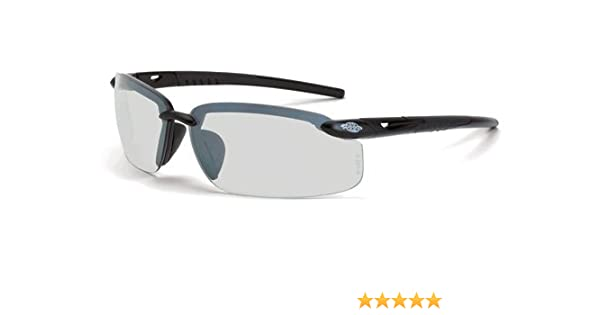 f69db96347 12 Pack Crossfire 29215 ES5 Safety Glasses Indoor - Outdoor Lens - Matte  Black Frame - - Amazon.com