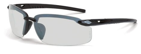 12 Pack Crossfire 29215 ES5 Safety Glasses Indoor - Outdoor Lens - Matte Black Frame