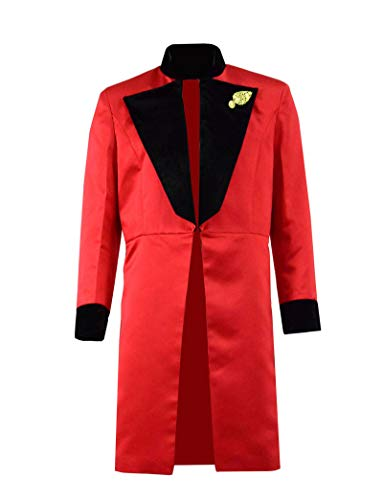 Qi Pao Kids Greatest Showman Barnum Performance Uniform Halloween Outfit Cosplay Costume (XL, Red Black Coat) ()
