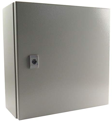 Type Backplate - Yuco YC-16X16X6-IP65-FE Enclosure Fully Enclosed (No Gland Plate), Nema Type 4, IP65, Single Door Hinge Cover, Wall-Mount, Backplate (16 x 16 x 6)