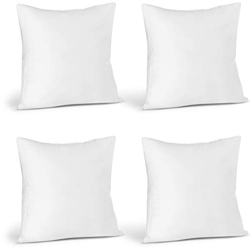 Utopia Bedding Throw Pillows Insert (Pack of 4, White) - 12 x 12 Inches Bed and Couch Pillows - Indoor Decorative Pillows